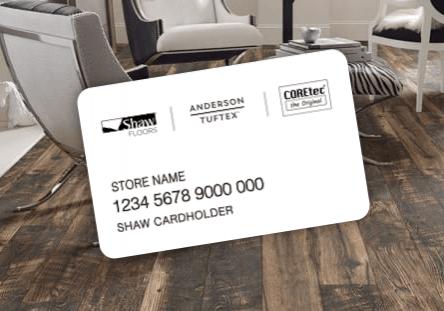 Shaw financing card   Midway Carpet Distributors