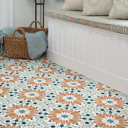 flower tile floor | Midway Carpet Distributors
