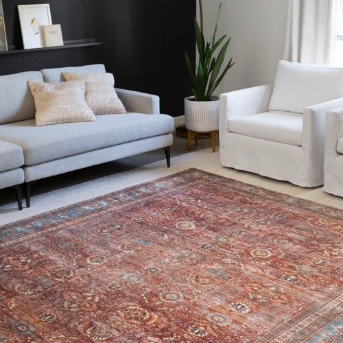 Red area rug | Midway Carpet Distributors