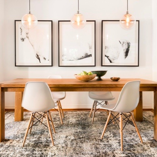 Area rug near table | Midway Carpet Distributors