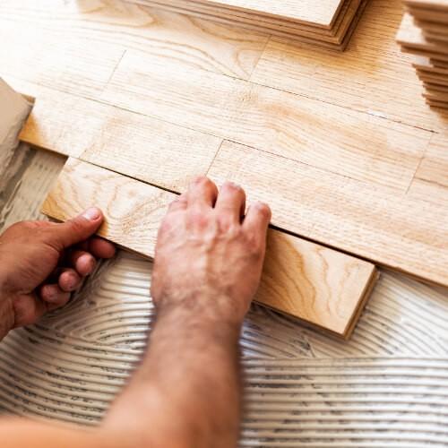 Hardwood installation   Midway Carpet Distributors