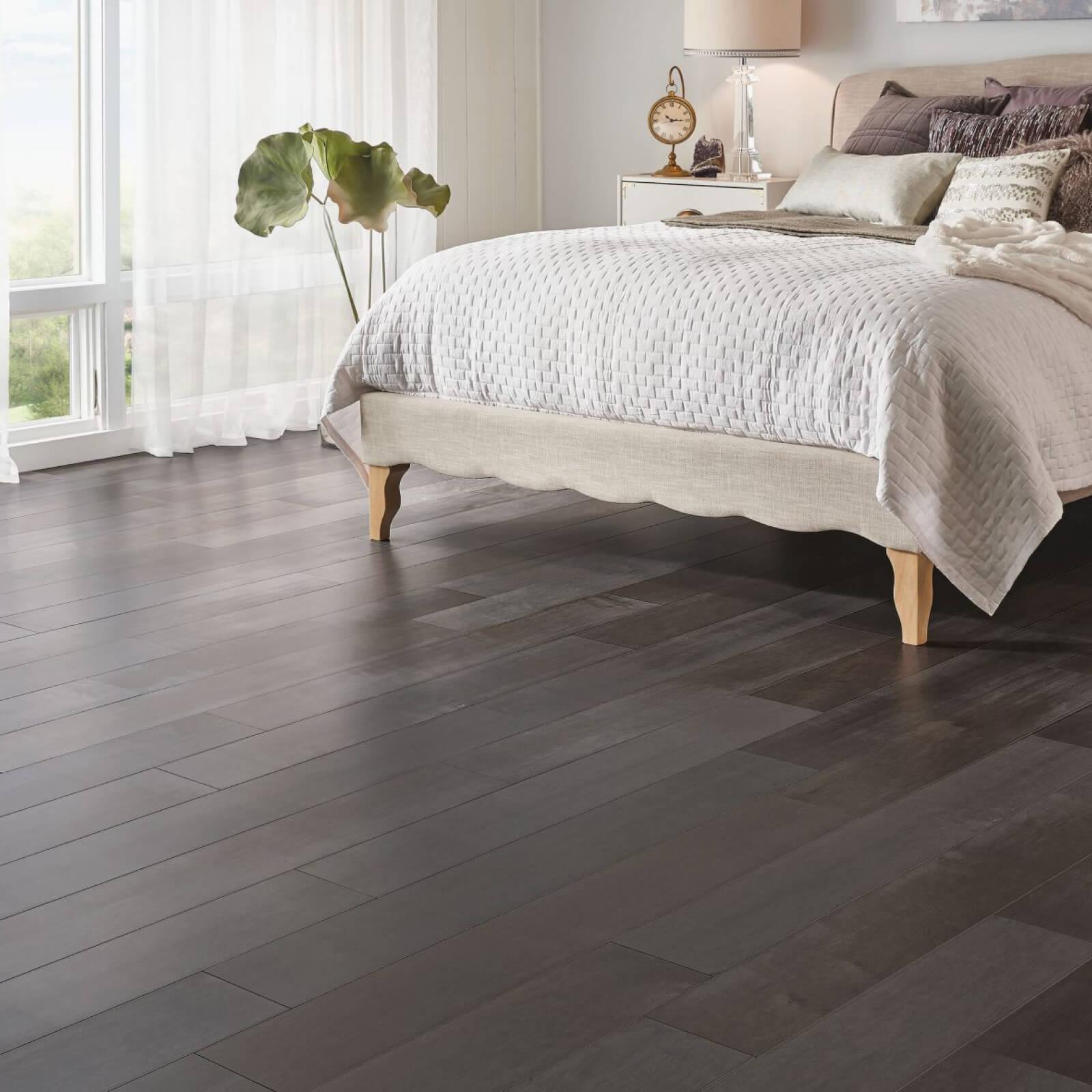 bedroom hardwood | Midway Carpet Distributors