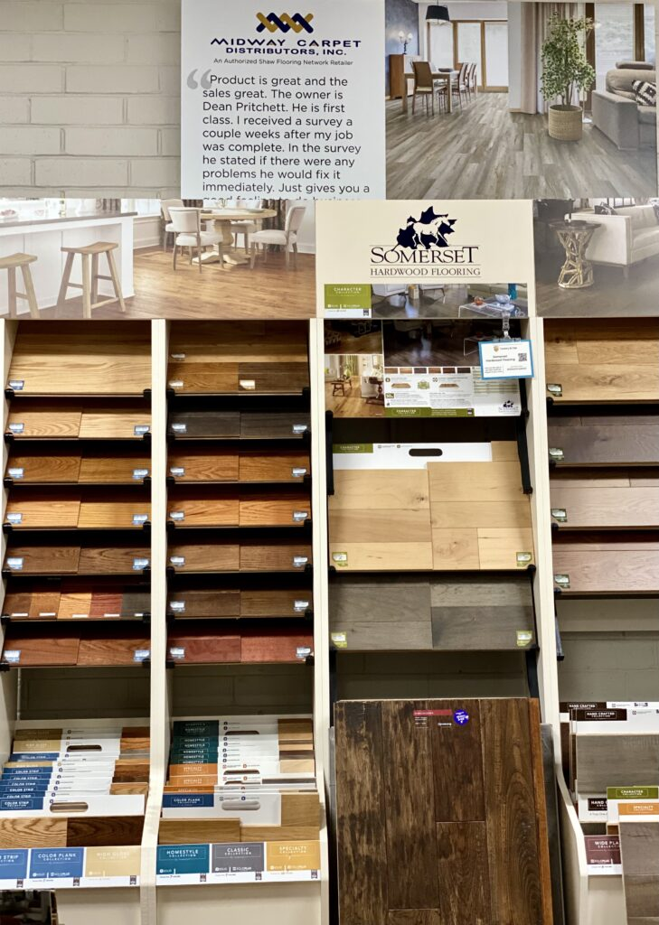 Somerset products display   Midway Carpet Distributors
